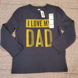 3x$20 ❤ NWT I love my dad tshirt size 5T
